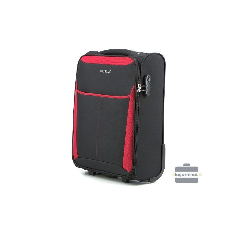 Väike kohver Vip Travel V25-3S-231 must punane
