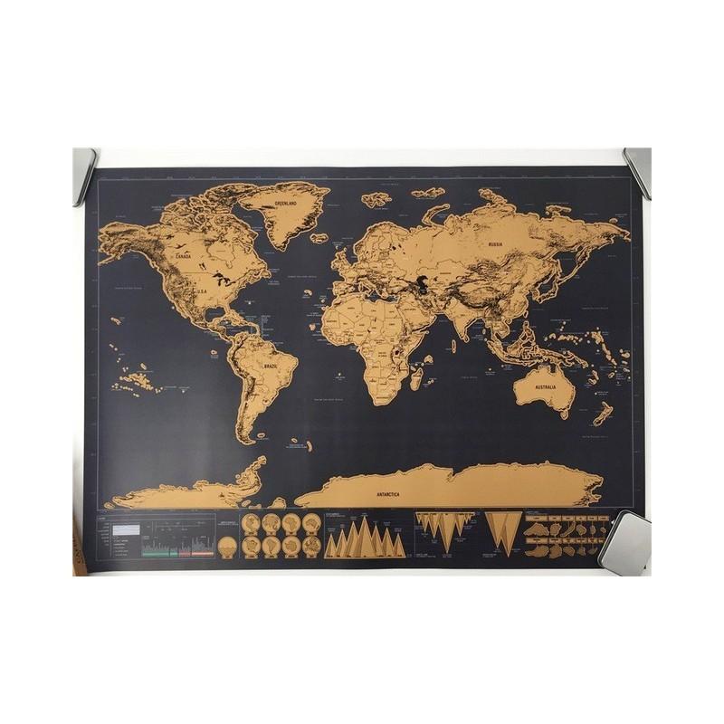 Kraabitav maailmakaart (82x59 cm)