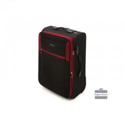 Keskmise suurusega kohver Vip Travel V25-3S-232 must punane