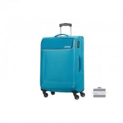 Keskmise suurusega kohver American Tourister Funshine V valgus sinine