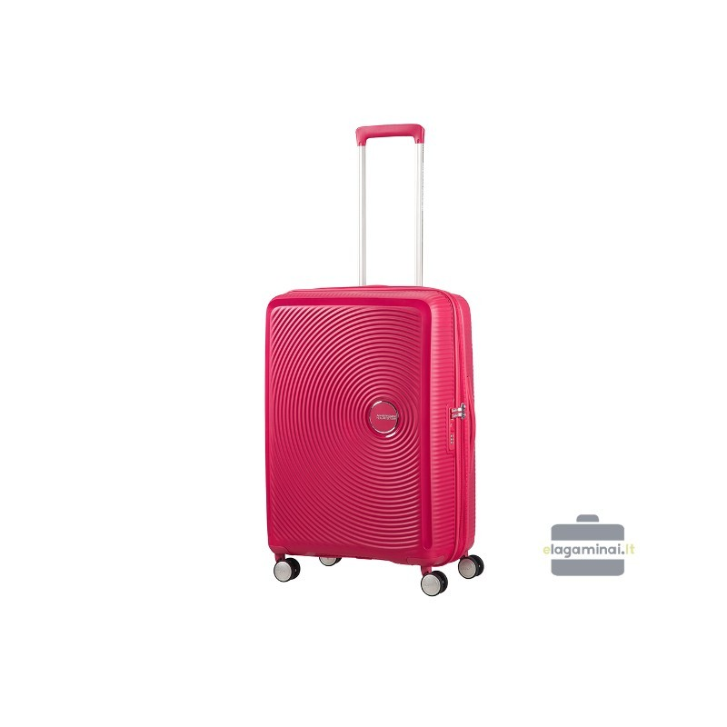 Keskmise suurusega kohver American Tourister Soundbox V punane