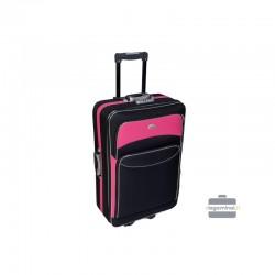 Keskmise suurusega kohver Deli 101-V must roosa