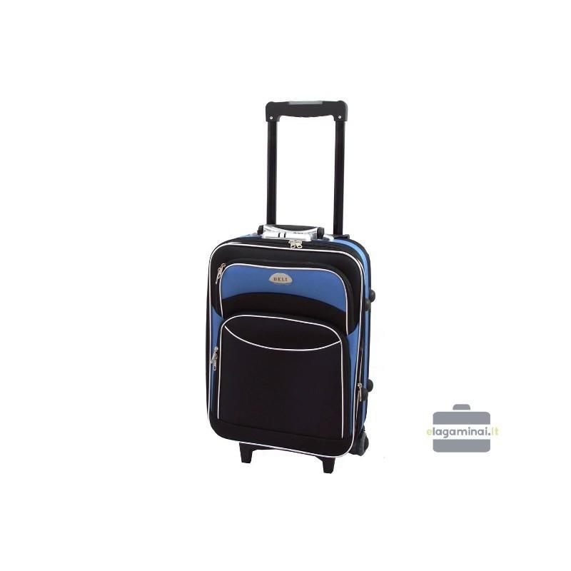 Käsipagasi kohvrid Deli 101-M must-sinine