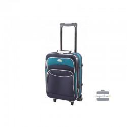 Käsipagasi kohvrid Deli 101-M sinine-roheline