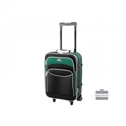 Käsipagasi kohvrid Deli 101-M must-roheline