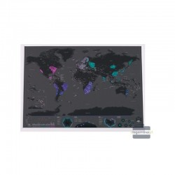 Kraabitav maailmakaart black (82x59 cm)