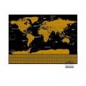 Kraabitav maailmakaart flag (82x59 cm)