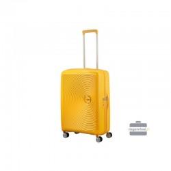 Keskmise suurusega kohvrid American Tourister Soundbox V kollane