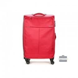 Keskmise suurusega kohvrid David Jones 5043-V punane