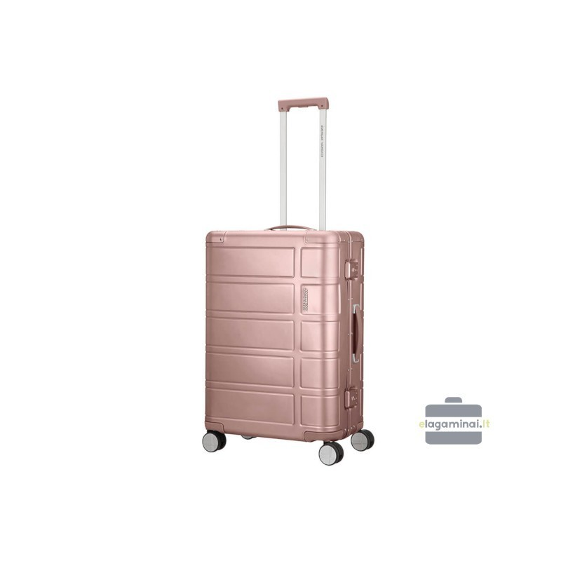 Keskmine alumiiniumist kohver American Tourister Alumo V roosa